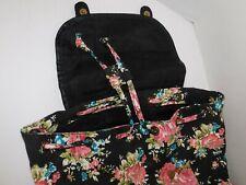 Backpack Ladies Black w/ Flowers Floral Women Teen