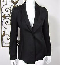 COSTUME NATIONAL LONG SLEEVE BLAZER SIZE 40 SOLID BLACK