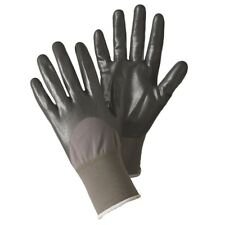 BRIERS SEED & WEED GARDEN GLOVES LARGE SIZE GREY WATERPROOF PALM, ELASTIC CUFFS