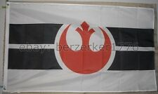 Star Wars Rebel Alliance White 3' x 5' Flag Banner - USA Seller Shipper