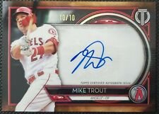 2020 Topps Tribute MVP Mike Trout On Card Auto - RARE! #10/10!! Ebay 1/1🔥🔥