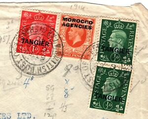Morocco Agencies TANGIER WW2 Cover GB Overprints Combination Franking 1940 97.2
