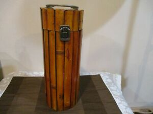 """Bamboo Wine Bottle Cady/Gift Box  13"""" Tall (1pc)"""
