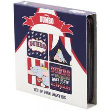 Disney Dumbo Cork-Backed Square Coasters - Set of 4 - Gift Boxed