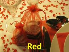 Red - Table Diamond Confetti Party Decoration Crystal Gems 4,5 6.5 8 10mm