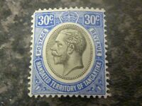 TANGANYIKA POSTAGE & REVENUE STAMP SG98A 30C BLUE LIGHTLY-MOUNTED MINT