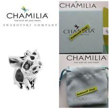 Rare, Retired, Genuine Chamilia 925 Silver Disney Moana Pua the Pig Bead Charm