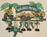 Vintage Mens L Frogs nos vale madre, Cancun Mexico Short Sleeve T Shirt--# 119