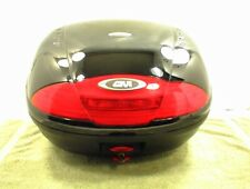 SIMPLY GIVI TOP BOX LUGGAGE CASE with MOUNTING BRACKET LIGHTS MOTORCYCLE TRUNK