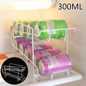 330ml Soda Can Tin Fridge bracket Storage Box Container Dispenser Iron Rack Hold