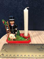 Germany Kathe Wohlfahrt Hand Painted Candle Holder     (I)