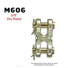 """CM Big Orange M606 Double Clevis (Mid-Link) 3/8"""" Zinc Plated 6600 Lb. (2 Pack)"""
