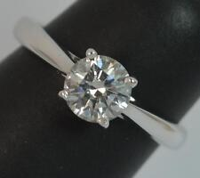 VS 0.75ct Diamond 18ct White Gold Solitaire Engagement Ring d0799