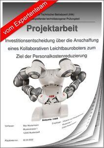 Technischer Betriebswirt TBW Projektarbeit & Präsentation IHK Investition LBR