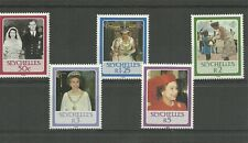 SEYCHELLES-SG639-643-60TH BDAY OF QE11-MNH