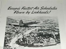 1939 Lockheed Airplane ad, Electra, British Airways plane photo