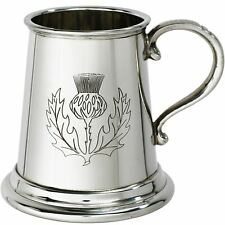 Tankard 1/4pt Scottish Thistle Stamped Tankard  Ideal For Engraving