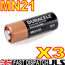 3 DURACELL MN21 A23 k23A LRV08 Alkaline Batteries 12v