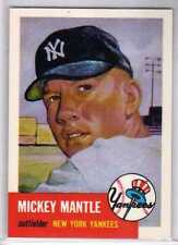 1991 TOPPS ARCHIVE MICKEY MANTLE 1953 REPRINT #82