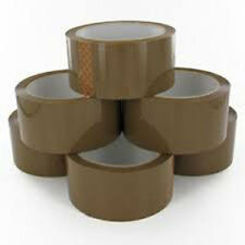 12 Rolls Brown Parcel Packing Tape