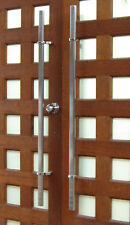Offset Oval Pair Stainless Steel Front Entrance Door Pull Handles- 1200mm
