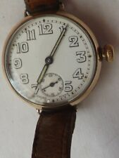 a vintage god plated trench style manual wind watch-1919