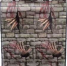Gothic Dungeon SKELETON HANDS DOOR COVER Stone Wall Poster Mural Prop Decoration