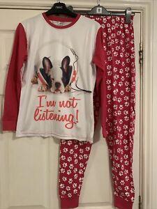 Girls Frenchie Pyjamas Age 13-14