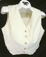 Reed Hill Saddleseat Vest Ladies Ivory Polyester Reverse size 8 Usa