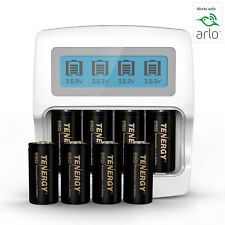 PREMIUM Arlo Camera Rechargeable Battery & Charger Kits - RCR123A Li-ion