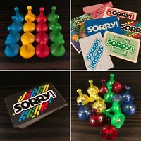 Sorry! Board Game Replacement Pieces, Cards, Pawns - You Pick
