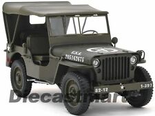 1:18 Welly Willys Jeep US Army CAPPOTTA 1942-1945 verde oliva