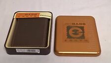 GH Bass Earth Passcase Men's Leather Wallet Brown in Gift Tin