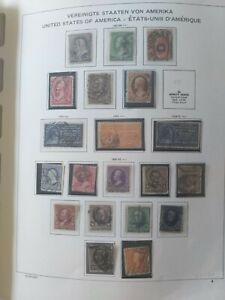 Album mit Antiken Briefmarken - USA - 1850er Jahre bis 1980