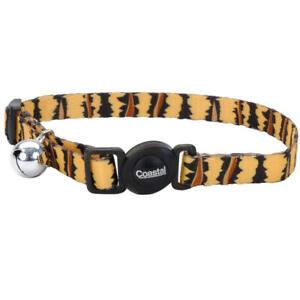 "Safe Cat Fashion Adjustable Breakaway Collar 3/8""x 08""-12"" Tiger"