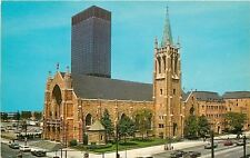 Cleveland Ohio~French Gothic St Johns Cathedral~Telephone Booth~Cars~1965 PC