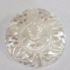 Brooch Pin - Mother of Pearl - Flower - Carved - Filigree
