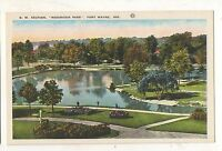 Reservoir Park FT FORT WAYNE IN Vintage Indiana Postcard
