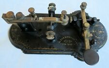 G.Tillotson New York Stencilled Cast Iron Base Telegraph Key/Sounder Old Antique