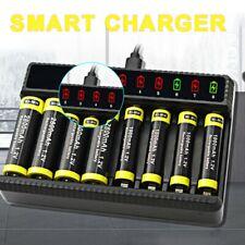 8slots inteligente cargador pilas para AA/AAA baterías recargables de 1.2V NiMh