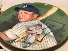 Mickey Mantle 1983 Marigold Collector Plate from a painting by Pablo Carreno w/B
