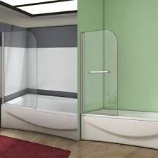 AICA Single Pivot Shower Bath Screen Glass Panel 800x1400mm BA