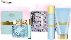 AVON LUCK LIMITLESS (Her) Set~EDP 50ml/Lotion/Body SprayPurse Spray/Makeup Purse