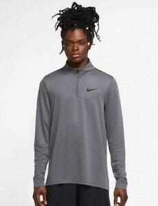Nike Men's Superset 1/4 Zip Training Top Gray CZ1212 068 Gray XL-TALL $40