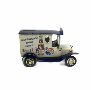 Golden Diecast Pepsi Cola Blue White 1929 Ford Delivery Truck Coin Bank