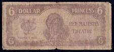 "Australia Nz + Usa: Her Majesty's Theatre 1910 $6 ""Property Note"". Very Rare!"