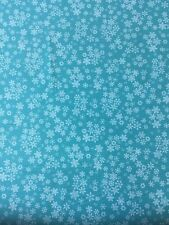 Makeover Frosty Snowflakes 1585 Cotton Fabric By The Fat quarter