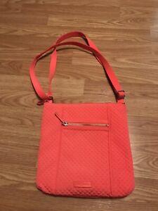VERA BRADLEY Large Hipster Crossbody Bag Purse Orange NWOT