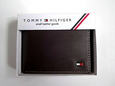 Men's Leather Wallet 'Tommy Hilfiger' Bifold, BROWN, Coin Pouch, MRP£60.00, SALE