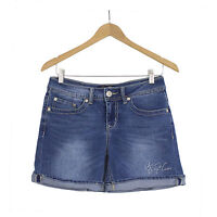NWT Women Seven7 Embroidered Pocket Stretch Denim Roll-up/down Jean Shorts 4-16